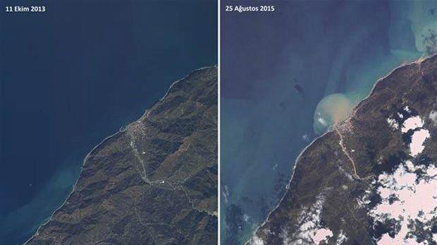 Artvin'deki Felaketin Boyutları Uyduyla Görüntülendi