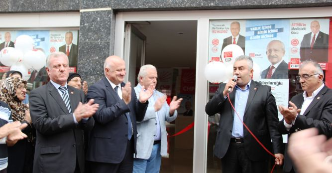 Arhavi'de CHP Seçim Çalışmalarını Aralıksız Sürdürüyor