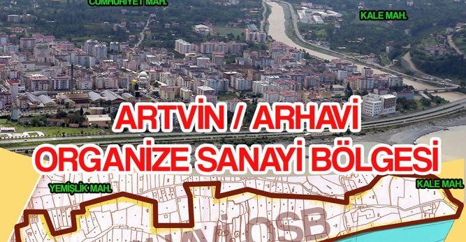 Artvin'in Organize Sanayi Bölgesi Arhavi'de