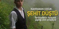 Trabzon'da Kahraman Çocuk Şehit Düştü